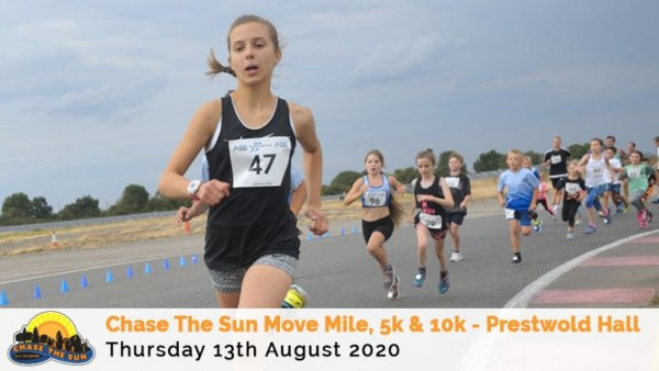 RunThrough Leicestershire Chase The Sun 5K \u0026 10K \u002D August - cover image