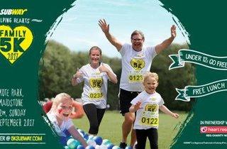 The SUBWAY Helping Hearts™ Family 5k Series - Maidstone